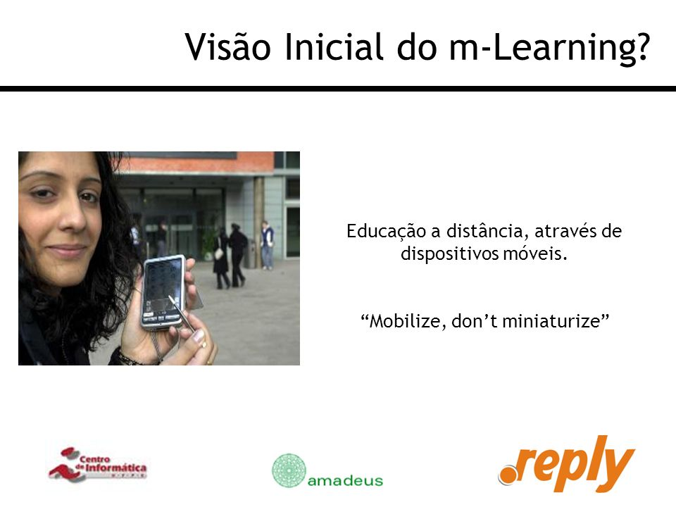 Visão Inicial do m-Learning