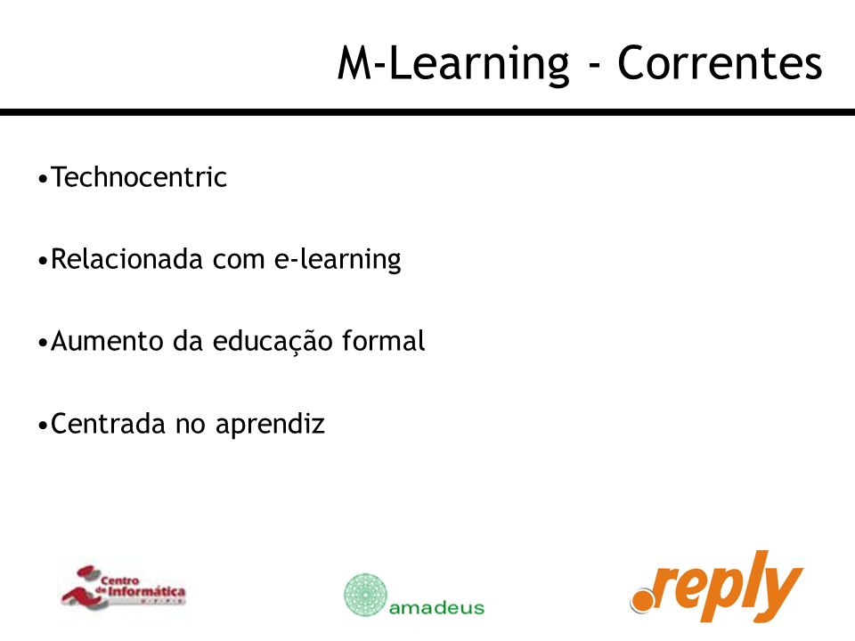 M-Learning - Correntes