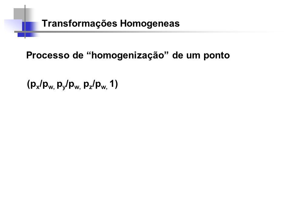 Transformações Homogeneas