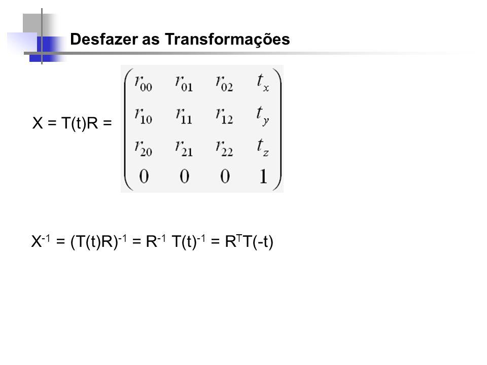 Desfazer as Transformações