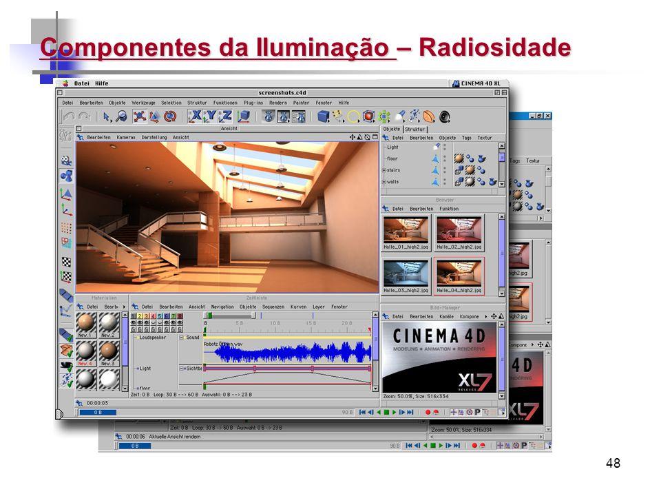 Componentes da Iluminação – Radiosidade