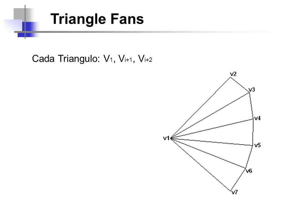 Triangle Fans Cada Triangulo: V1, Vi+1, Vi+2