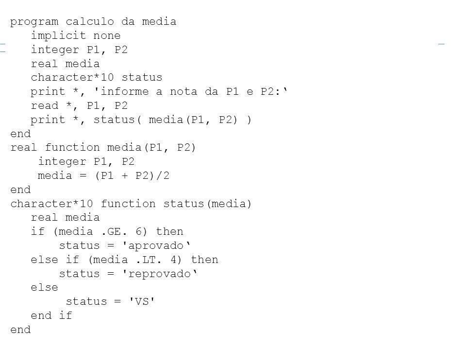 program calculo da media