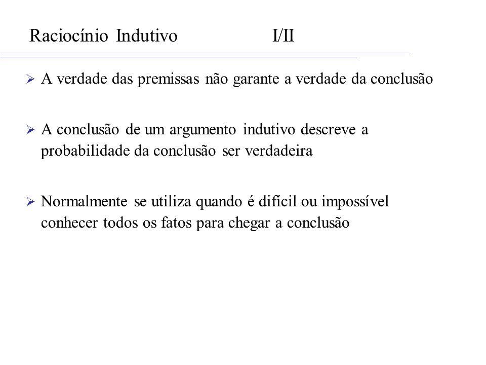 Raciocínio Indutivo I/II