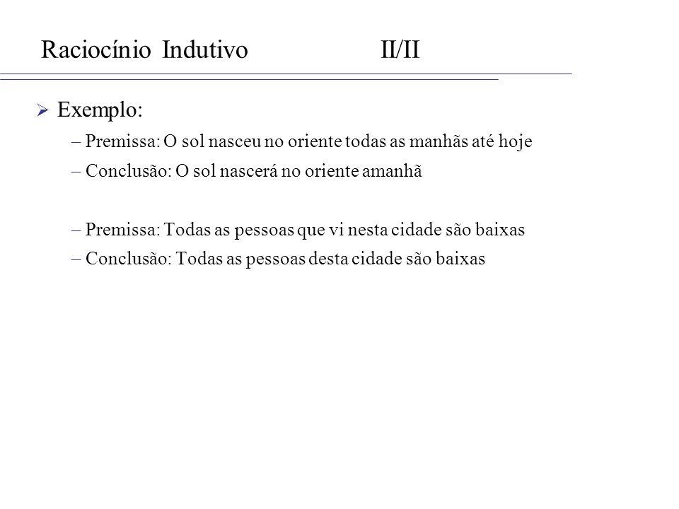 Raciocínio Indutivo II/II