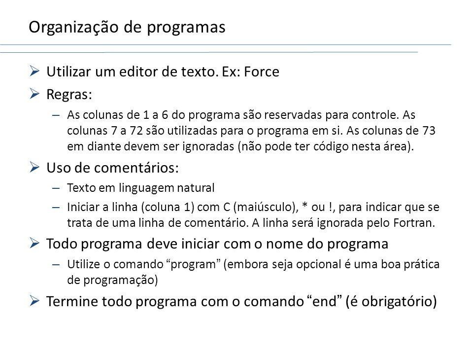Organização de programas