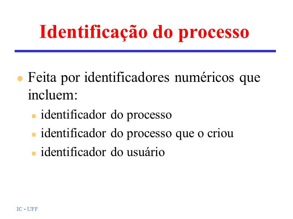 Identificação do processo