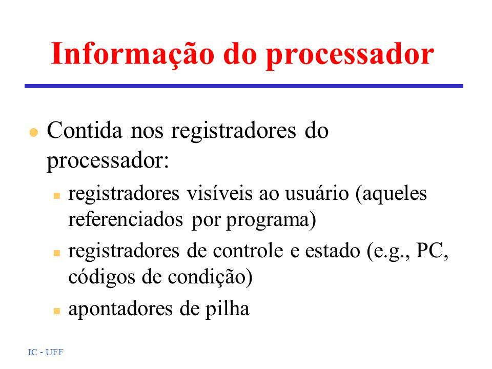 Informação do processador
