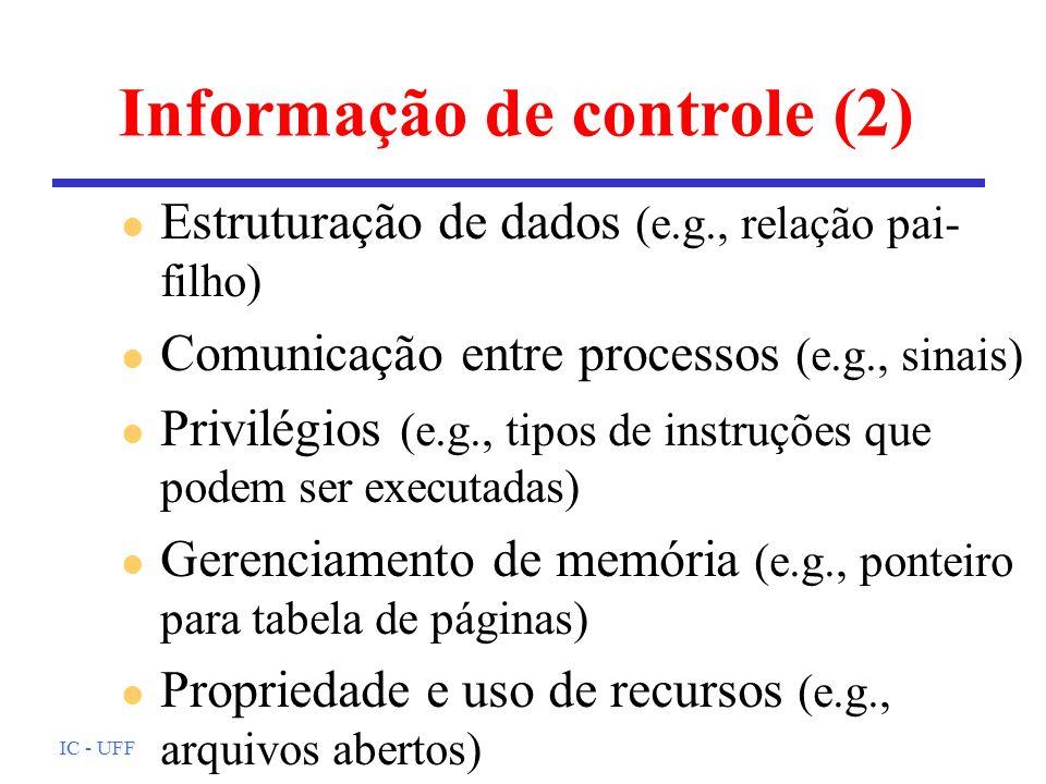 Informação de controle (2)