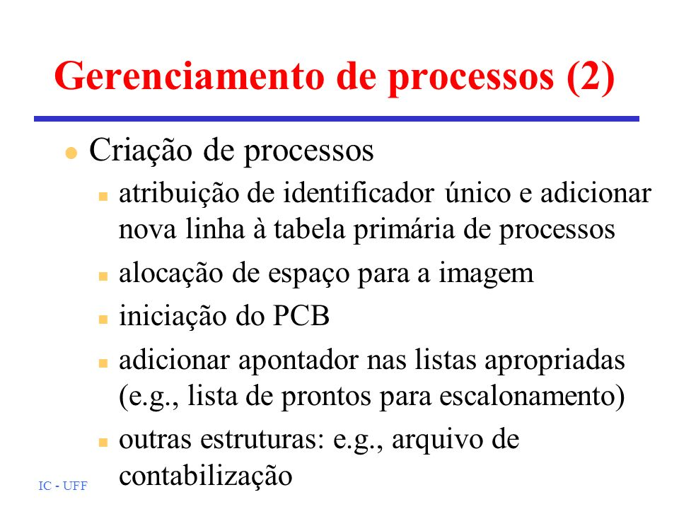 Gerenciamento de processos (2)