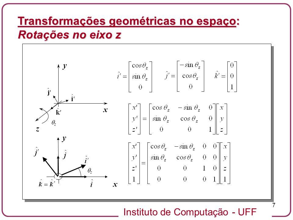 Transformações geométricas no espaço: Rotações no eixo z