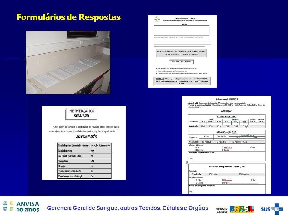 Formulários de Respostas