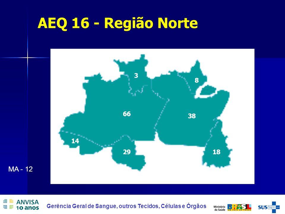 AEQ 16 - Região Norte 29 66 38 8 18 3 14 MA - 12