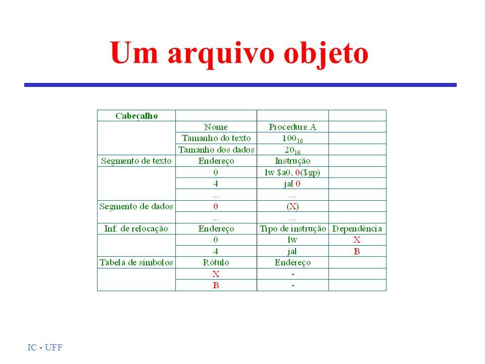 Um arquivo objeto IC - UFF