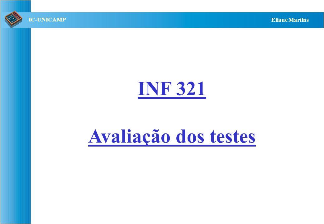 INF 321 Avaliação dos testes