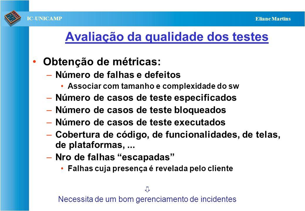 Avaliação da qualidade dos testes