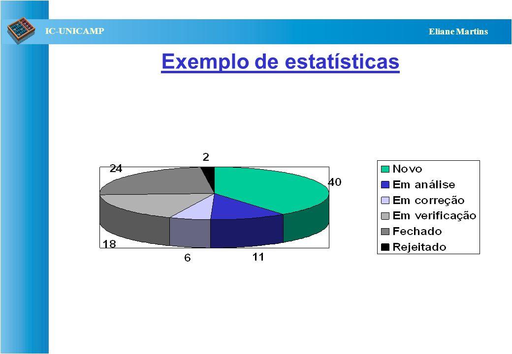 Exemplo de estatísticas