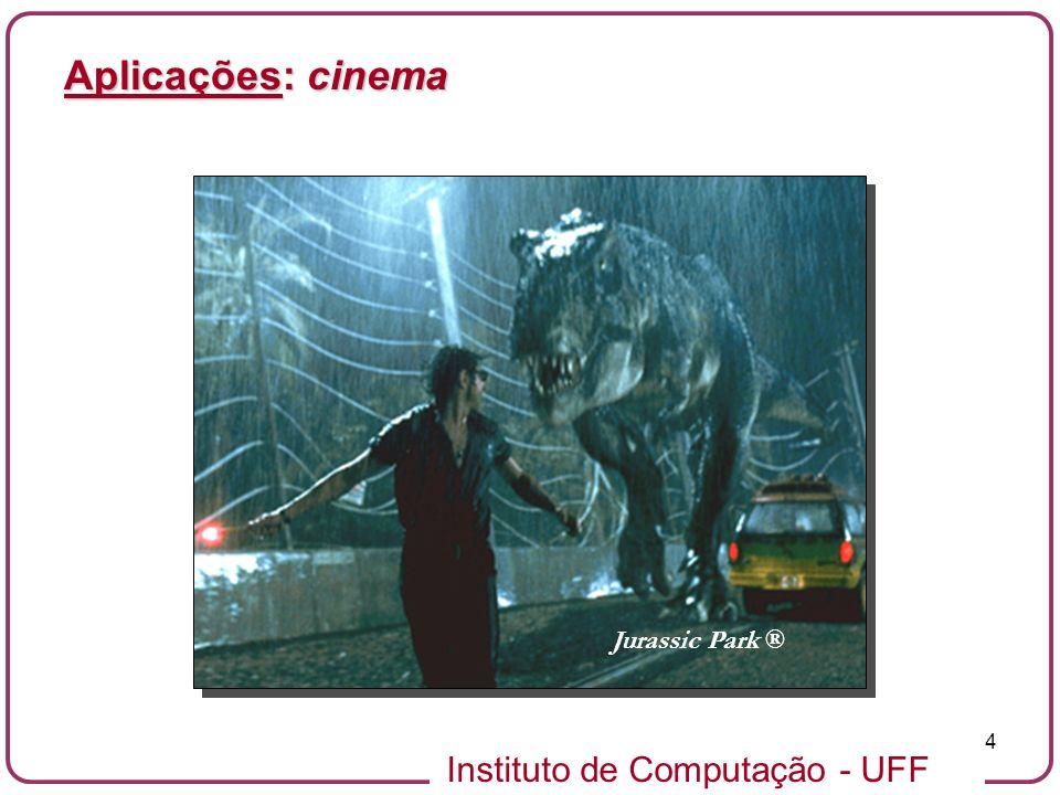 Aplicações: cinema Jurassic Park ®