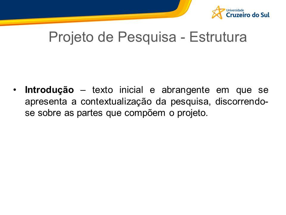 Projeto de Pesquisa - Estrutura