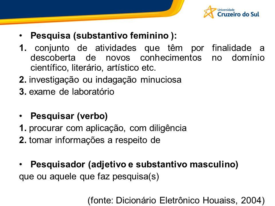 Pesquisa (substantivo feminino ):