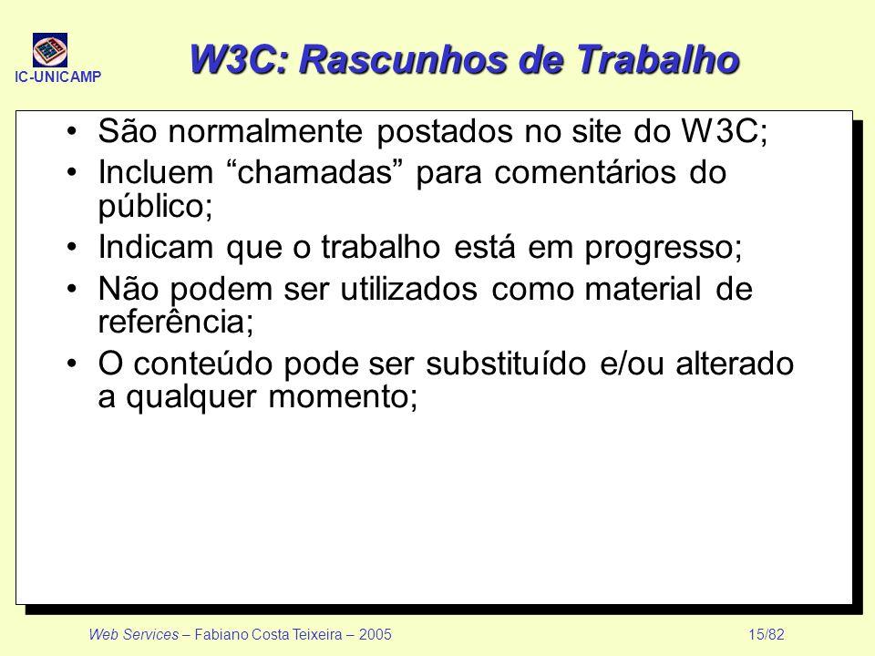 W3C: Rascunhos de Trabalho