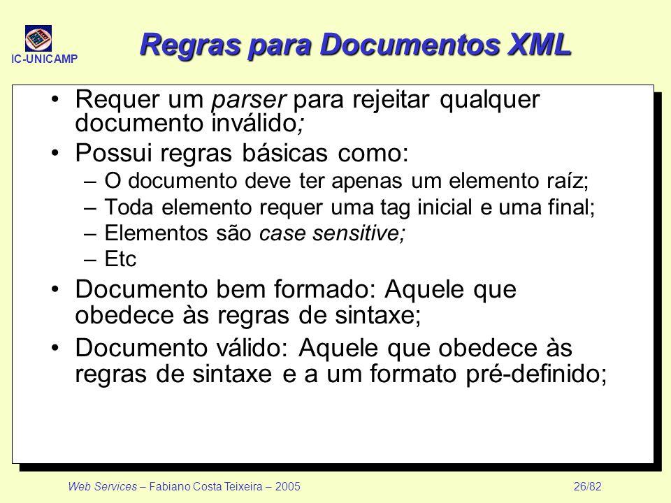 Regras para Documentos XML