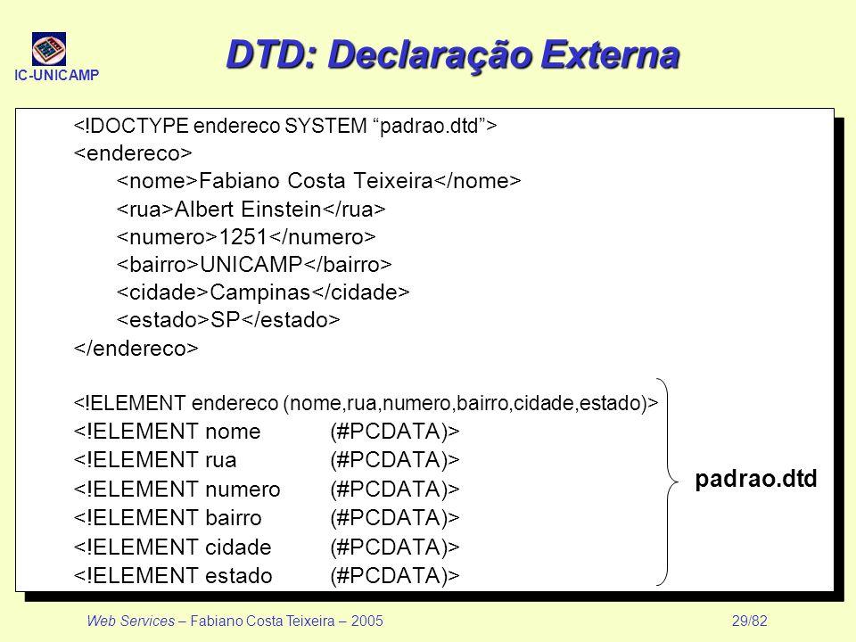 DTD: Declaração Externa