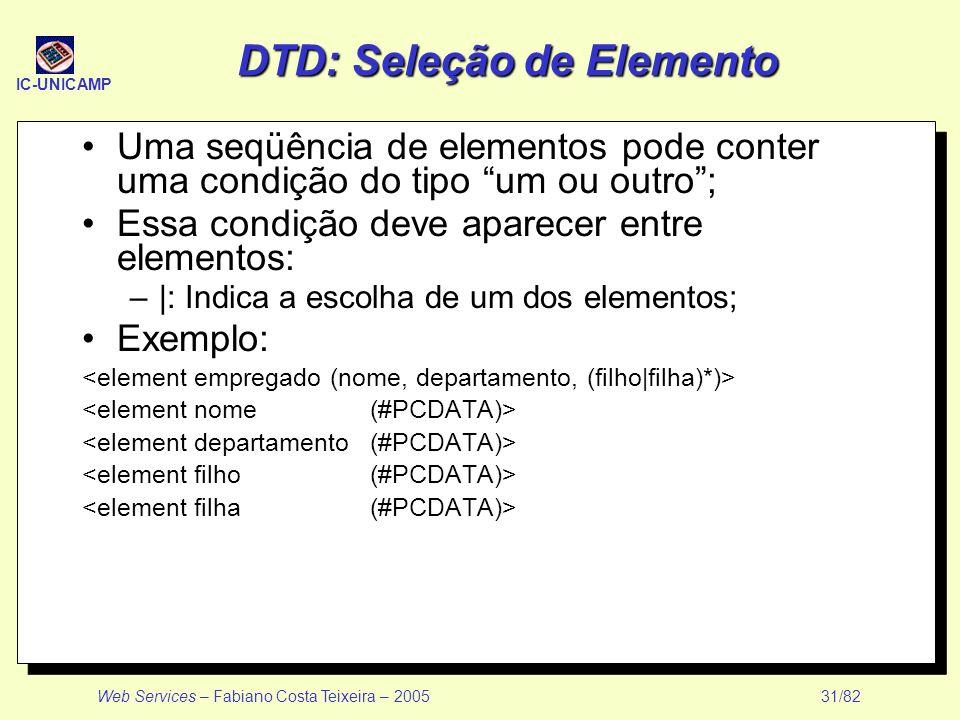 DTD: Seleção de Elemento