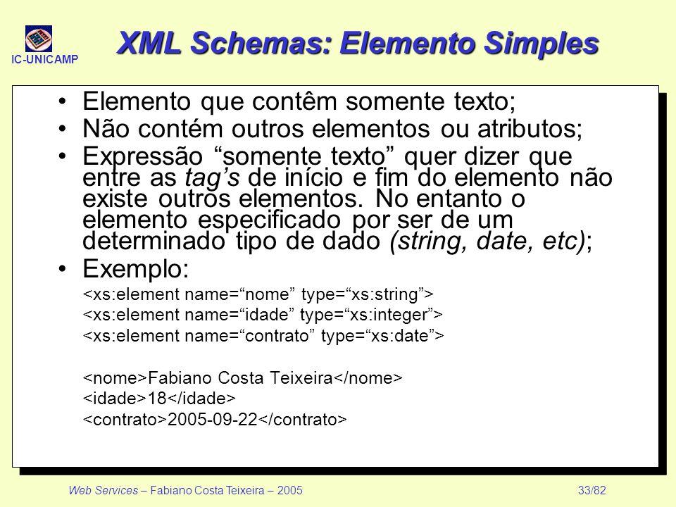 XML Schemas: Elemento Simples