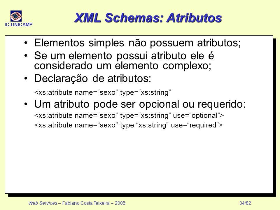XML Schemas: Atributos