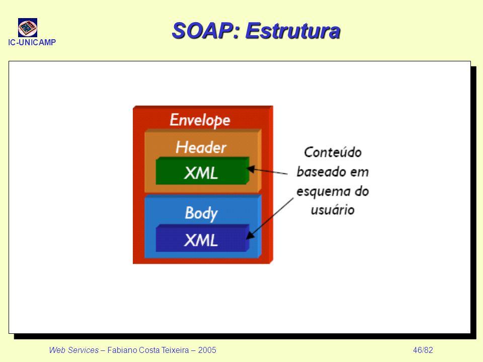 SOAP: Estrutura Web Services – Fabiano Costa Teixeira – 2005 46/82