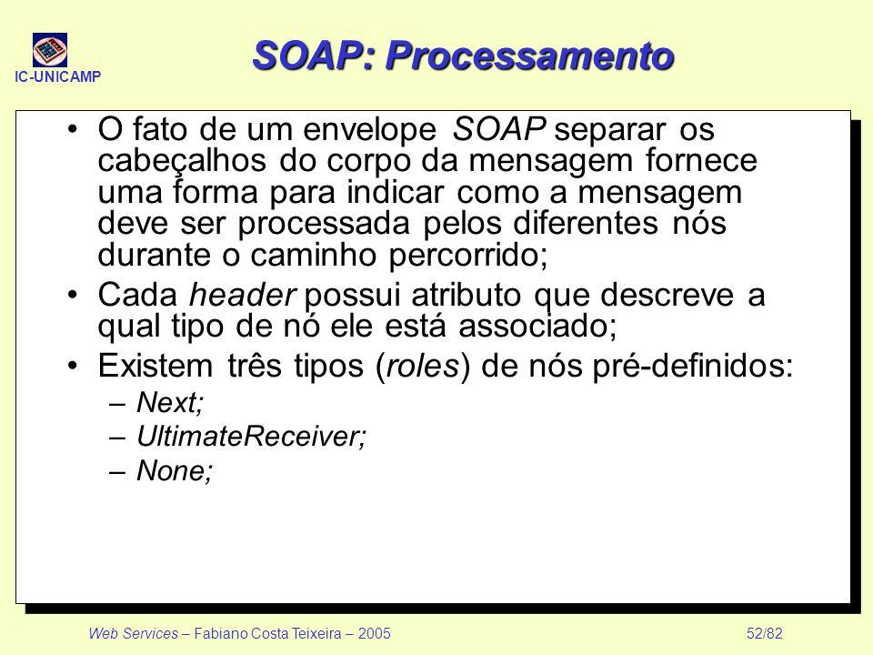 SOAP: Processamento