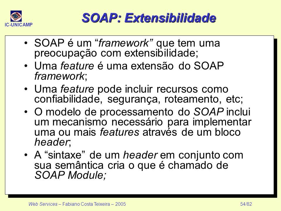 SOAP: Extensibilidade
