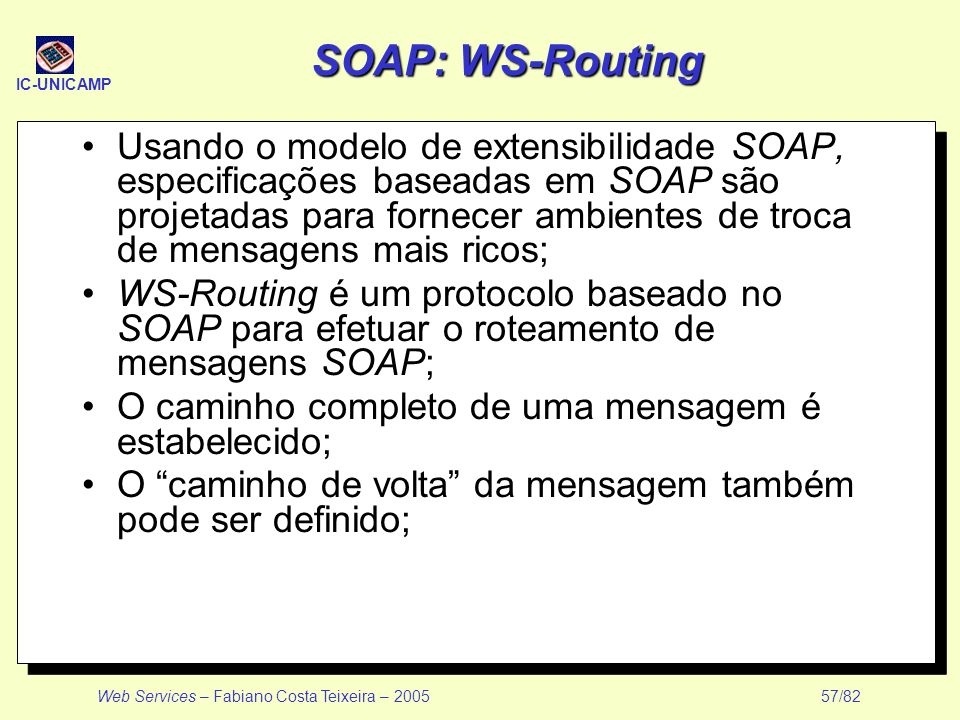 SOAP: WS-Routing