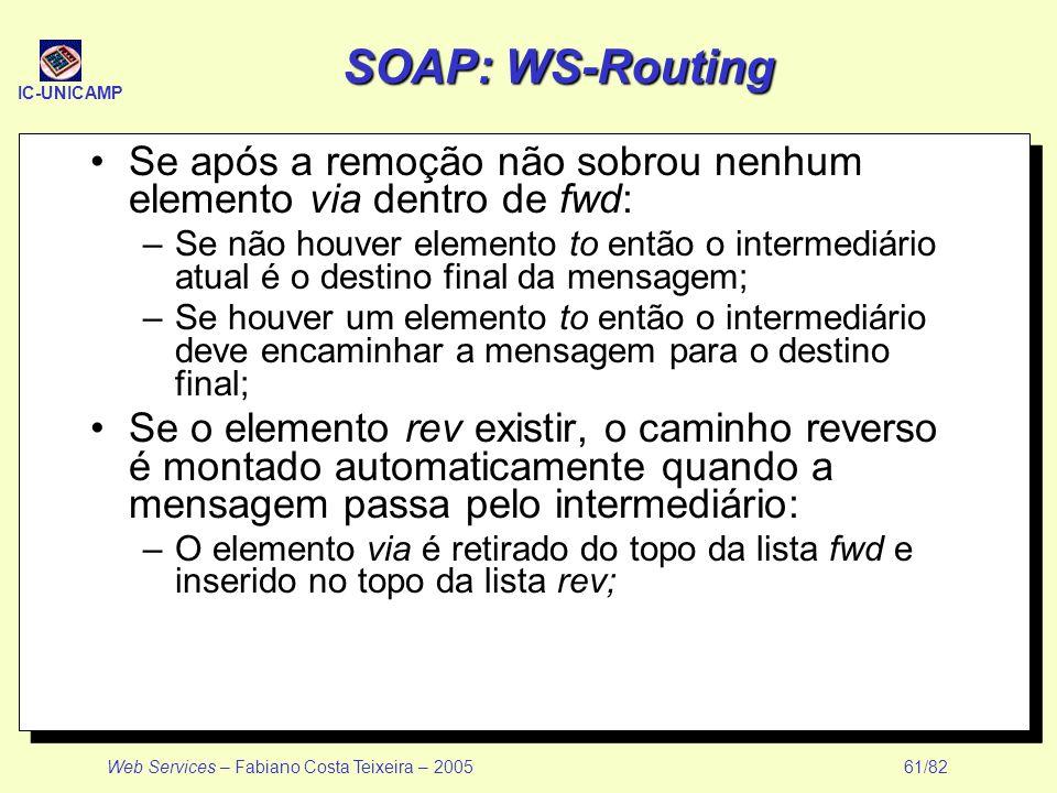 SOAP: WS-Routing Se após a remoção não sobrou nenhum elemento via dentro de fwd: