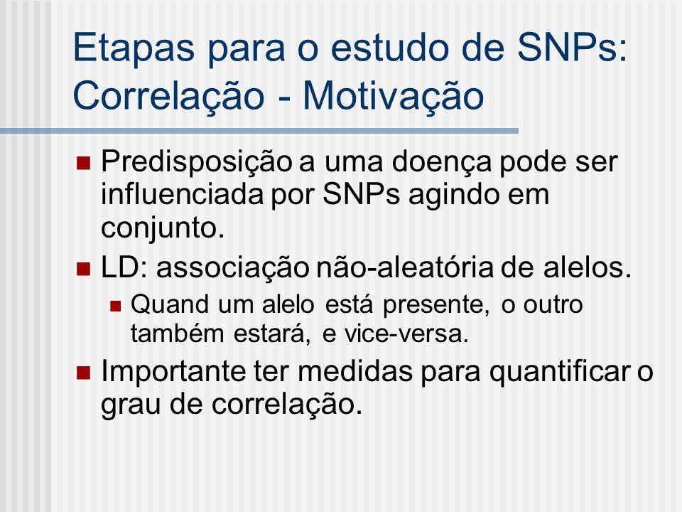 Etapas para o estudo de SNPs: Correlação - Motivação