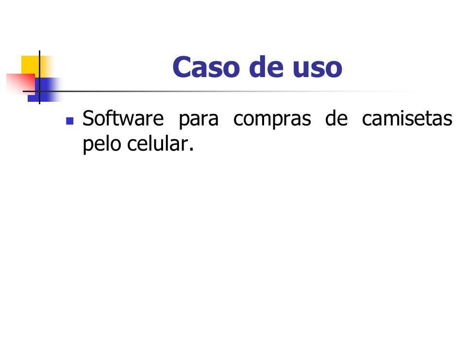 Caso de uso Software para compras de camisetas pelo celular.