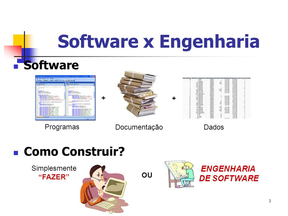 Software x Engenharia Software Como Construir ENGENHARIA DE SOFTWARE