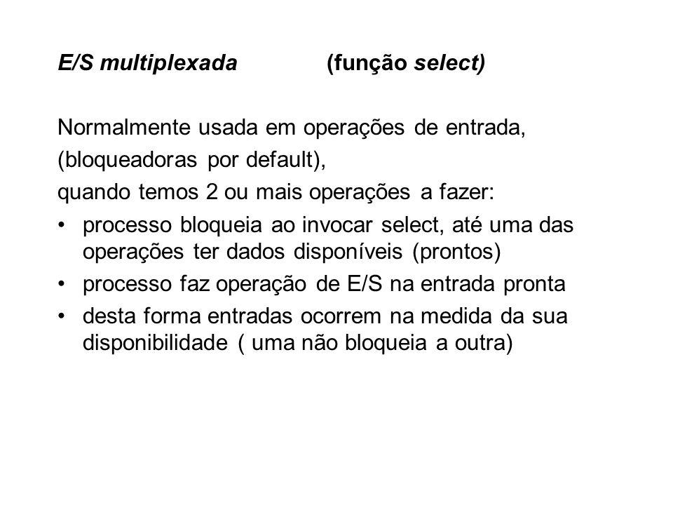 E/S multiplexada (função select)