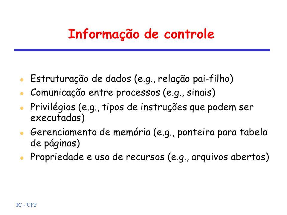 Informação de controle