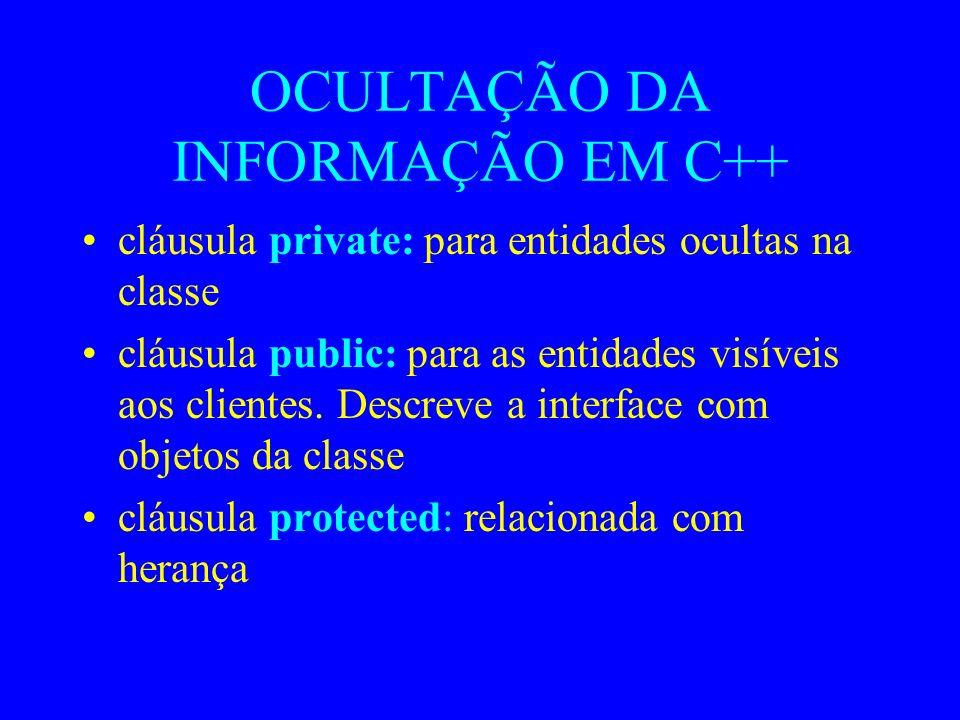 OCULTAÇÃO DA INFORMAÇÃO EM C++
