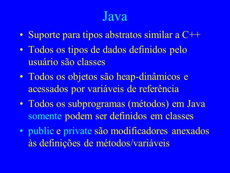 Java Suporte para tipos abstratos similar a C++