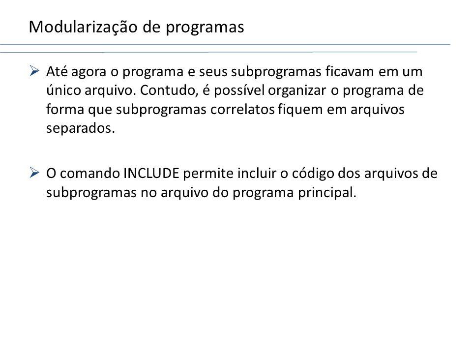 Modularização de programas