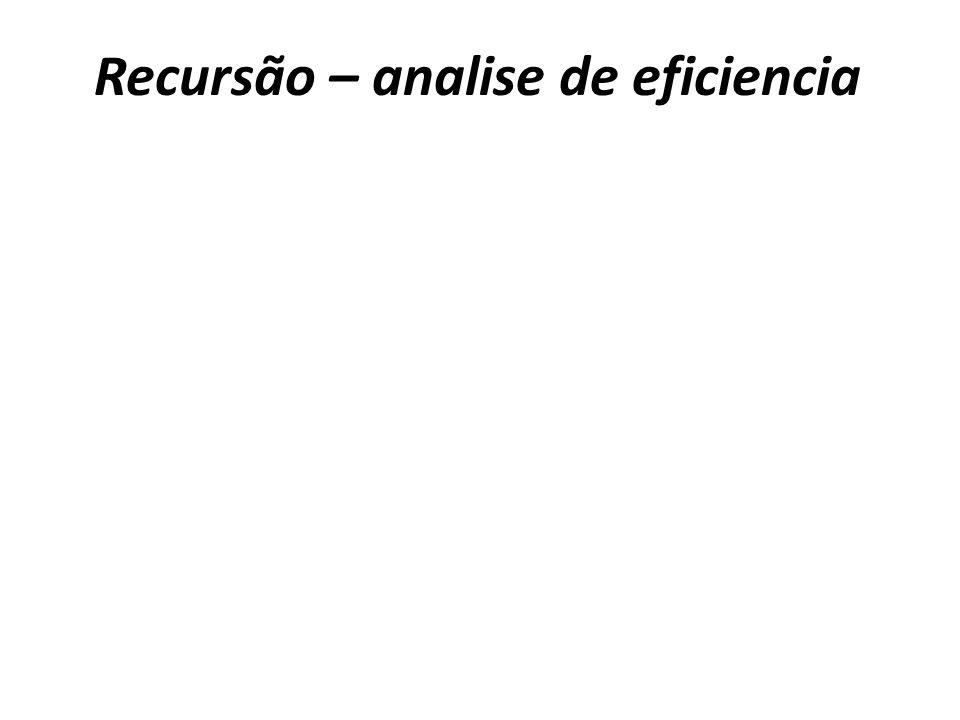 Recursão – analise de eficiencia