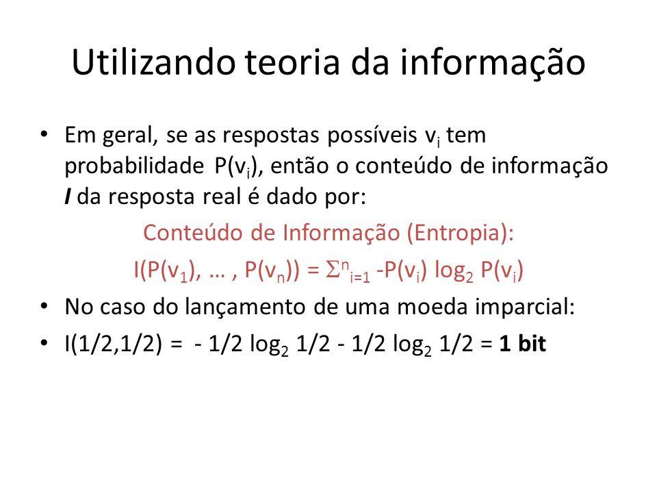 Utilizando teoria da informação
