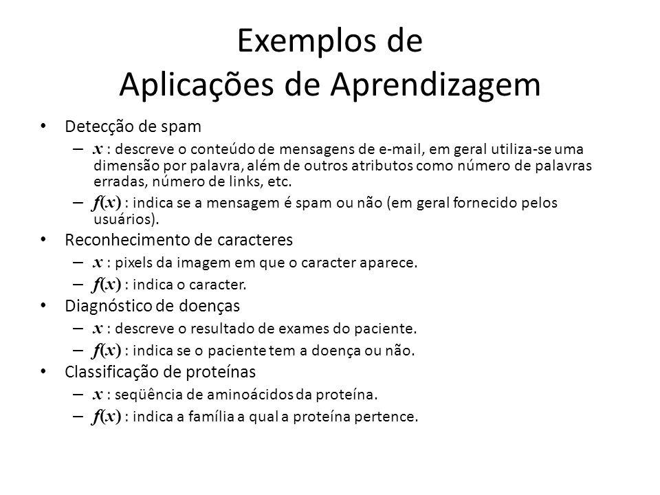 Exemplos de Aplicações de Aprendizagem