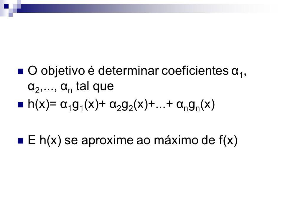 O objetivo é determinar coeficientes α1, α2,..., αn tal que