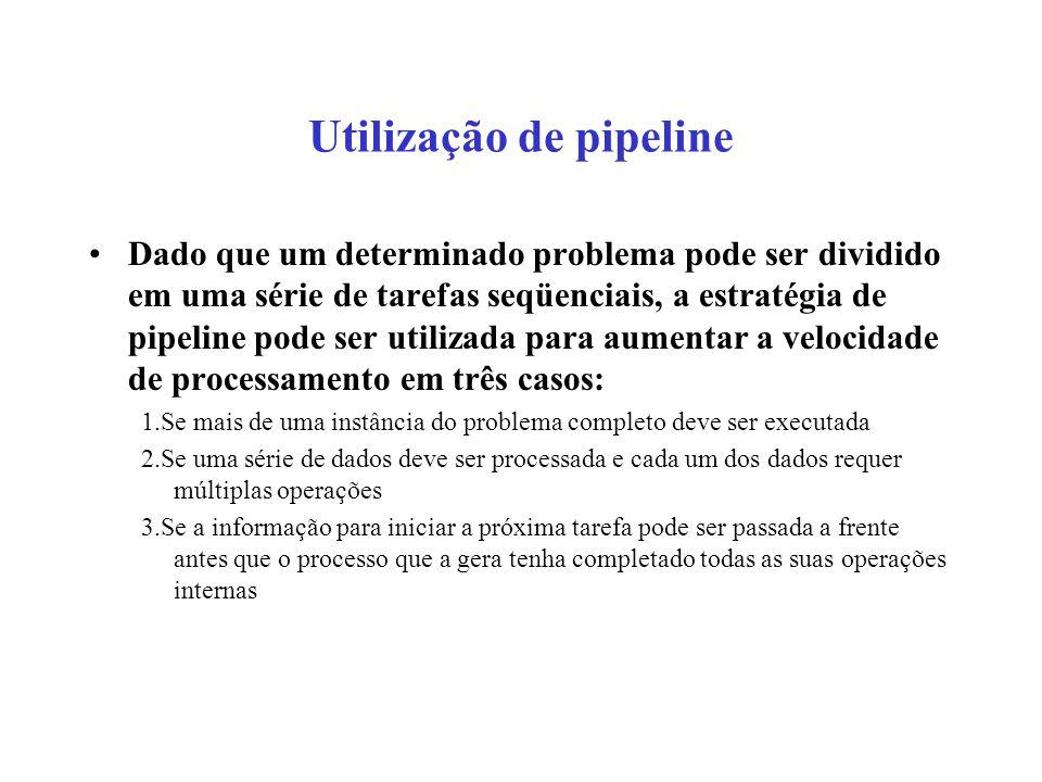 Utilização de pipeline