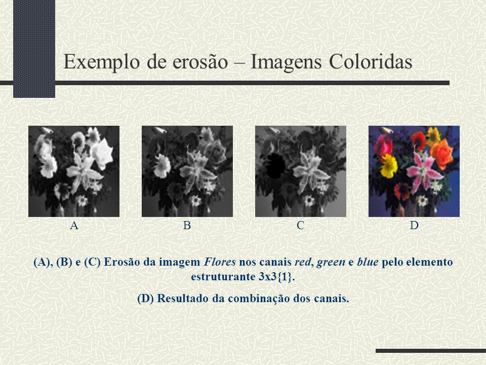 Exemplo de erosão – Imagens Coloridas