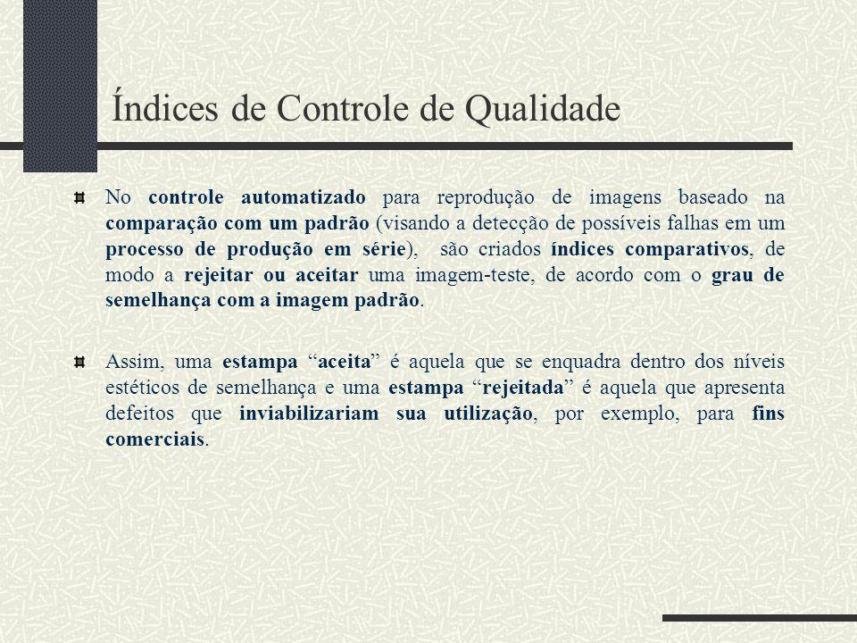 Índices de Controle de Qualidade